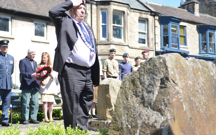 TRIBUTES were paid to more than 100 airmen who lost the...