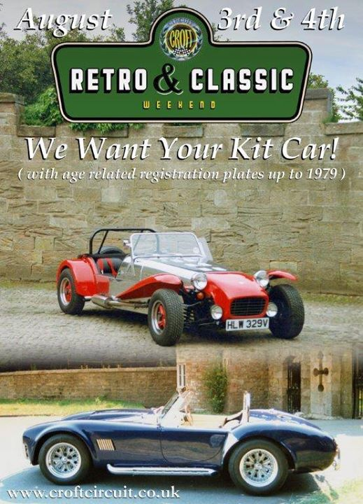 Croft Retro and Classic Weekend  are inviting owners of...