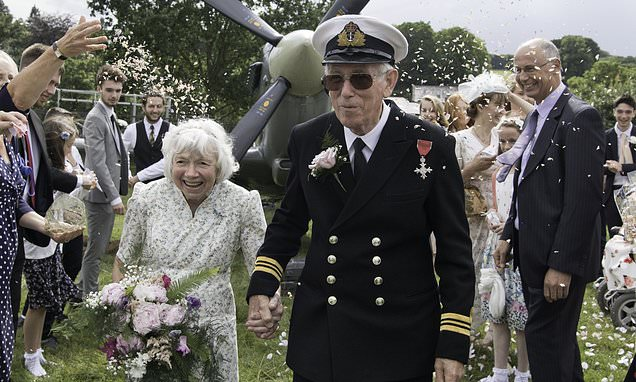 Last month, first-time bride Olive Moyses, 75, and wido...