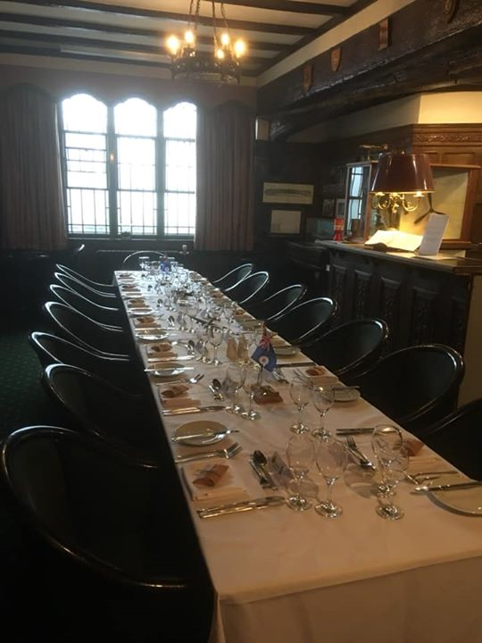 All set up for our private dinner in the Squadron Bar a...