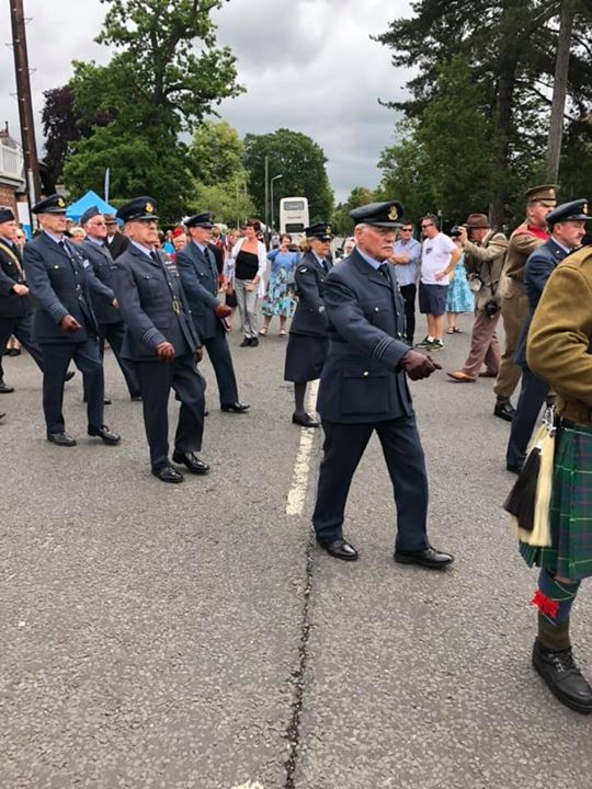 Members taking part in the Sunday Parade at Woodhall Sp...